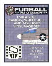 Furball Decals 1/48 A-7D/E CORSAIR Canopy, Wheel Hub, Taxi Light Vinyl Mask Set
