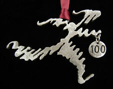 Christmas Ornament for 100 Mile Ultra Marathon Runners Treasure Cast Pewter