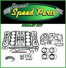 Enginetech Engine Gaskets Rings Rod & Main Bearings Kit 87-89 SBC SB Chevy 350