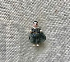 Charming Antique Tiny German Frozen Charlotte China Doll with Original Clothes