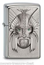 powerful ZIPPO Green Eyed Viking lighter - special Edition - rare collectible