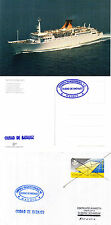 SPANNISH FERRY CIUDAD DE BADAJOZ SHIPS CACHED COVER & POSTCARD