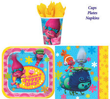 Disney Trolls Birthday Party Pack of 32 pc ~ Plates,Cups & Napkins ~Table Ware