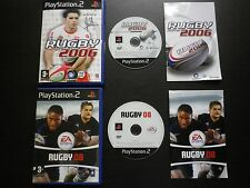 LOT 2 JEUX Sony PLAYSTATION 2 PS2 : RUGBY CHALLENGE 2006 + RUGBY 08 (complet)