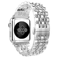 For Apple Watch 42mm Silver Stainless Steel Strap Link Bracelet Wrist Band
