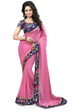 New Designer Sari Bollywood Saree Fabric Georgette Saree Party wear Saree Blouse