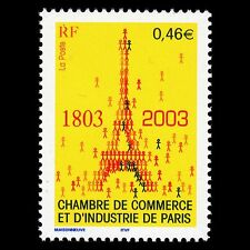 France 2003 - Chamber of Commerce Architecture Eiffel Tower - Sc 2933 MNH