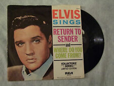 "ELVIS PRESLEY""RETURN TO SENDER - Collectors'Series.- Disco 45 giri, RCA 1977"""