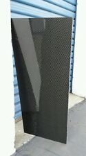 "Real Carbon Fiber Fiberglass Panel Sheet 12""×30""×1/4"" Glossy Both Sides"