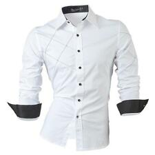Jeansian Fashion Mens Casual Slim Fit Dress Shirts Business Shirt Tops 2028