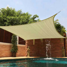 Sun Shade 18X18 Square Top Sail Beige Tan Sand for Deck Patio Cover New Backyard