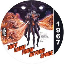 """They Came From Beyond Space (1967) Classic Sci-fi and Horror CULT """"B"""" Movie DVD"""