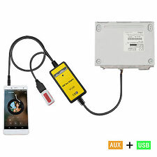 Car USB Aux-IN Input Adapter MP3 Integration Kit For Camry Corolla Highlander LX
