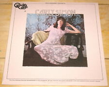 CARLY SIMON EPONYMOUS SAME S/T USA QUADRAPHONIC STEREO AUDIOPHILE LP + INSERT