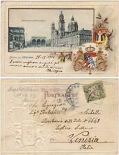 GRUSS AUS MUNCHEN - LITHO VEDUTINE A RILIEVO (GERMANIA) 1901