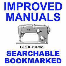 PFAFF 360 260 Factory SERVICE Repair Maintenance Workshop MANUAL SEARCHABLE CD