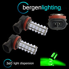 2X H8 GREEN 60 LED FRONT MAIN HIGH BEAM LIGHT BULBS HIGH POWER XENON MB500401
