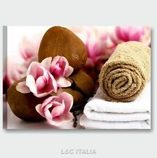 Zen fiori benessere 6 QUADRO MODERNO 70x50 QUADRI SU TELA SPA CASA ARREDAMENTO