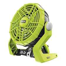 Ryobi r18f Fan Cordless One Plus Verde HYPER SPEED recharchable RAFFREDDAMENTO PORTATILE