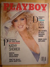 Original Playboy Magazine June 1986 Linda Evans Kelly LeBrock Kathy Shower PMOY
