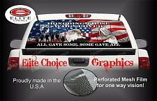 Military Honor Vets Patriotic Flag Rear Window Graphic Decal Sticker Truck SUV