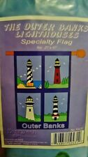 """The OUTER BANKS LIGHTHOUSES  29"""" x 45"""" Specialty Flag"""