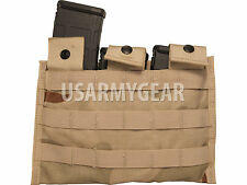 NEW Us Army MOLLE Camo Desert Side By X Side Triple M4 Three 3 Mag Utility Pouch