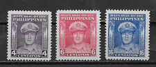 PHILIPPINES ,1948 , GEN. MACARTHER , SET OF 3 STAMPS  PERF,  MNH