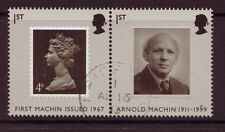 GREAT BRITAIN 2007 FINE USED ARNOLD MACHIN  PAIR