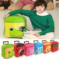 Kids Boys Girls Animal Backpack Animal School Trolley Bag Lunch Box Back Pack