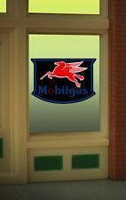 Miller Engineering  HO/O  MOBILGAS WINDOW SIGN  MLR9025