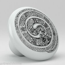 Snake Celtic Ceramic Knobs Pulls Kitchen Drawer Cabinet Vanity Closet 576 Pantry
