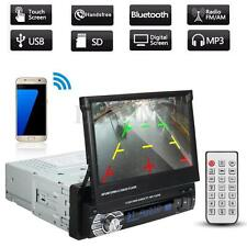 "7"" Car Single 1 Din MP3 MP5 CD DVD Player Bluetooth Radio USB Head Stereo Video"