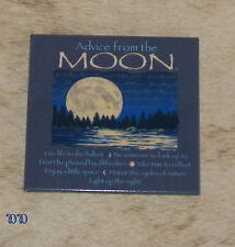"""LEANIN TREE """"Advice From The Moon""""~#26351 Magnet*Light Up The Night*Enjoy Space*"""