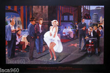Hollywood Backlot Marilyn Monroe James Dean Bogart Poster