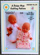 "DOLLS KNITTING PATTERN no. 215 for BABYBORN.by 16"" to 17"" doll.(Val Young)"