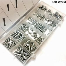 220 PCS M5 M6 NUTS BOLTS ASSORTED PHILLIPS DOME PAN HEAD MACHINE SCREW METRIC