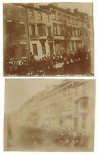 Lot of 2 1898 photos ADMIRAL WILLIAM T SAMPSON Philadelphia Victory Naval Parade