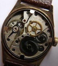 "VERY RARE""GUB-GLASHUTTE""-NUMBER 28-Q1-GOLD PLATED- GERMANY WRIST WATCH"