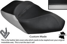 LIGHT GREY & BLACK CUSTOM FITS PIAGGIO X8 125 DUAL LEATHER SEAT COVER ONLY