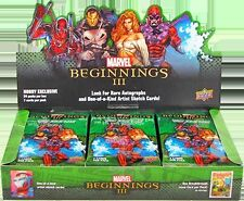 Marvel Beginnings Series Three Factory Sealed Box of 24 Packs
