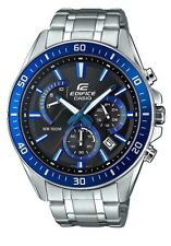 Casio Edifice Men's Watch EFR-552D-1A2VUEF Blue Silver Black Chronograph BNIB