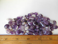 100g TUMBLED BANDED AMETHYST CRYSTAL from NAMIBIA;METAPHYSICAL;Healing;Feng Shui