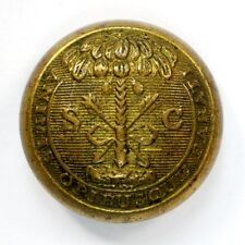 Non Dug Civil War South Carolina State Seal Button Cadet Size