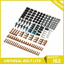 Orange 162Pcs Fairings Bolt Kit Fastener Nuts Screws for APRILIA RS125 RS250