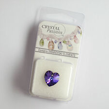 1 x Heliotrope14x14mm faceted Heart Swarovski Crystal Bead