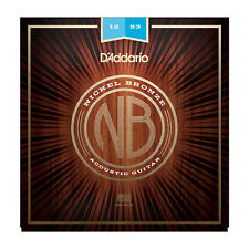 DAddario NB1253 Nickel Plated Bronze Light Acoustic Guitar Strings 12-53