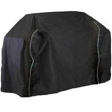 BBQ cover barbecue big fitted waterproof 2xzips - black, extra large 139cm high