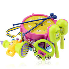 5Pcs Baby Kids Boy Girl Musical Instruments Drum Set Children Educational Toys