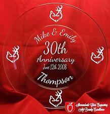 Anniversary Glass Plate Personalized Keepsake